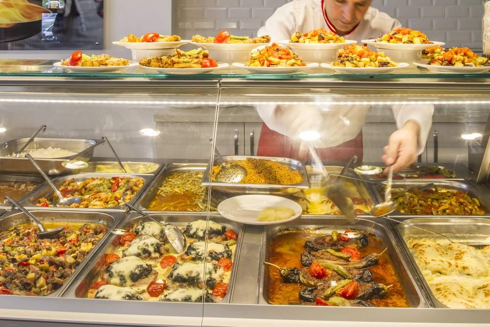 Turkish Cafeteria Food