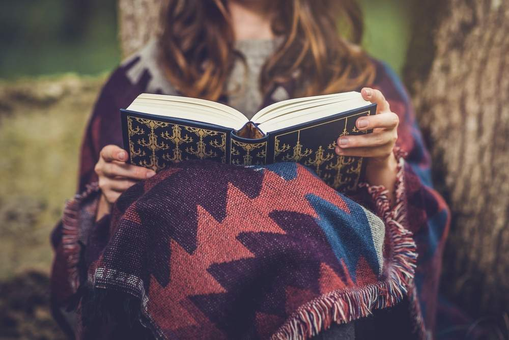 a good book is a nice escape when you're feeling lonely or overwhelmed on the road