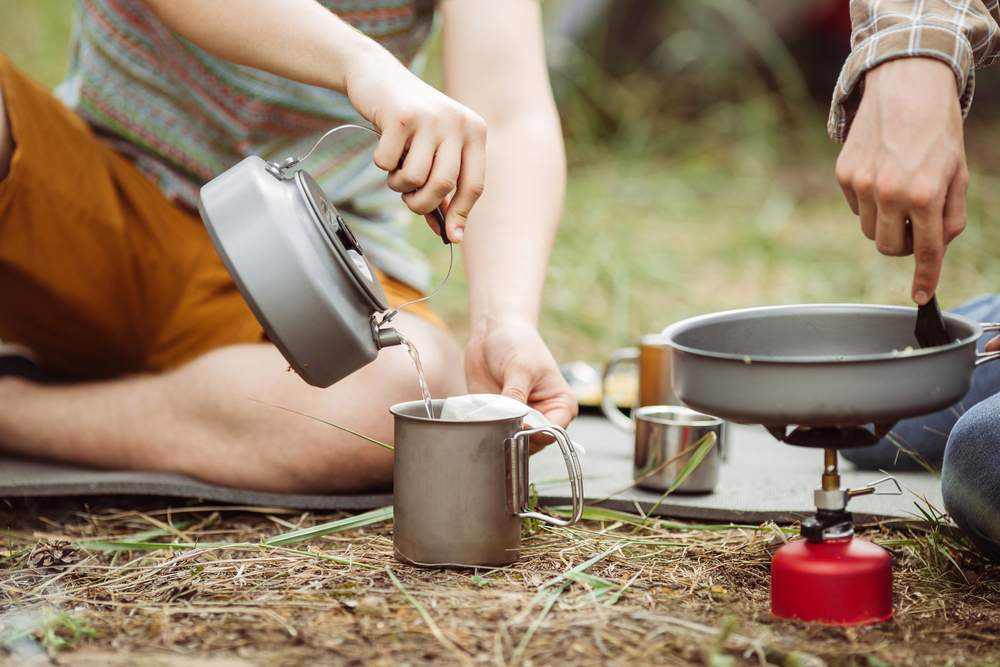 camping without coffee: no bueno