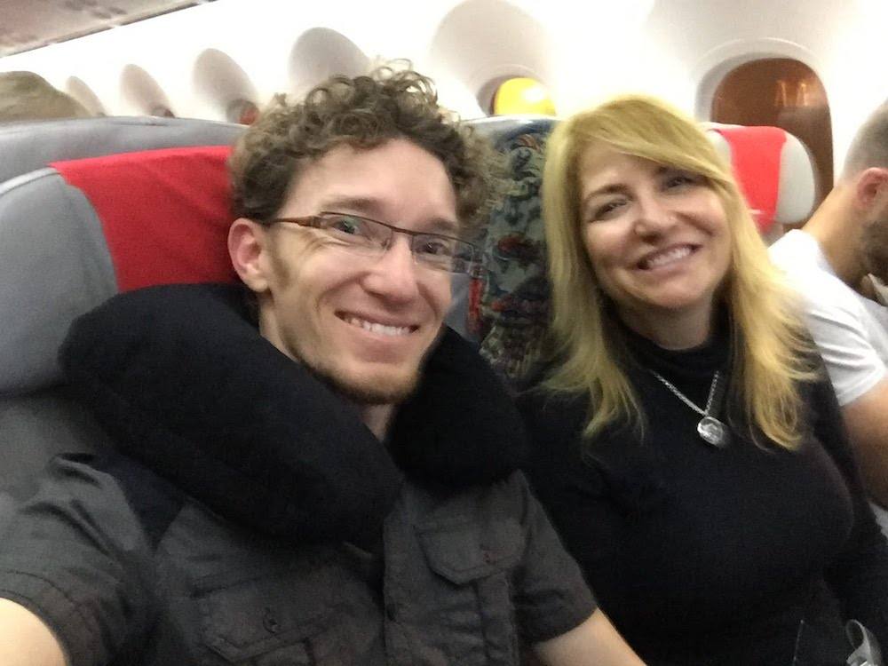Dale and Liz on Norwegian Air