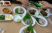 Sea Creatures And Soju Shots: A Korean School Dinner